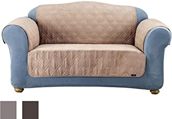 sure fit quilted pet throw loveseat slipcover taupe sf37267