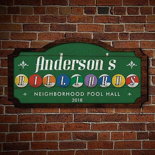 Personalizado Pool Hall cartel de madera por Homewetbar ...