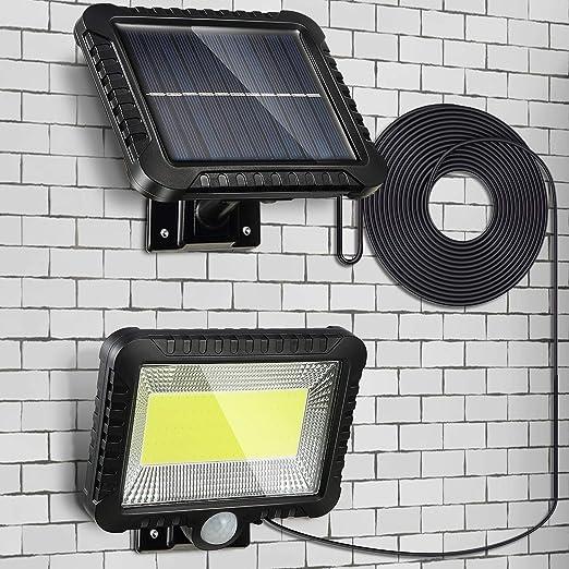 Luz Solar Exterior con Sensor de Movimiento, Luces LED Solares Exteriores Iluminación Focos Solares Exterior Impermeable Aplique Lampara Solar para Exterior Jardin: Amazon.es: Iluminación