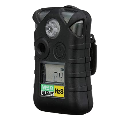 MSA 10092521 ALTAIR Single Gas Detector, Hydrogen Sulfide (H2S), Low Alarm 10 PPM, High Alarm 15 PPM