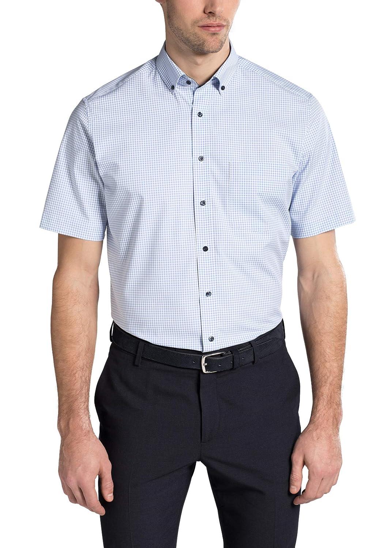 TALLA W38, longitud Kurzarm. Eterna Half Sleeve Shirt Modern FIT Poplin Checked