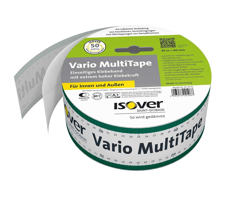 Isover 561970 Vario MultiTape Ruban adh/ésif int/érieur et ext/érieur 60 mm x 30 m Multicolore