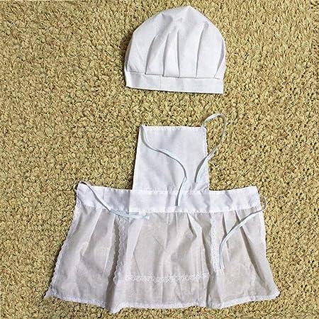 vasta selezione sito autorizzato design senza tempo Bambino Carino Cuoco Bianco Costume Fotografia Fotografia Prop ...