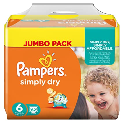 Pampers Simply Dry 4015400687092 6 62pieza(s) - Pañal (Universal, Disposable diaper