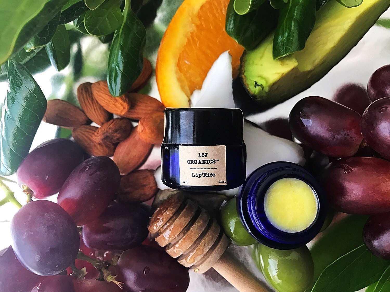 Organic 100% Natural Lip Balm- Lip'Rico- Treat & Feed Your Lips Day & Night With All Food Grade Ingredients