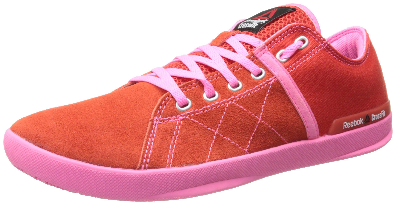 Reebok Women's Crossfit Lite Lo Tr-w, China Red/Electro Pink/Steel, 11 M US