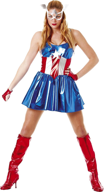 César Disfraz de Capitán América para mujer: Amazon.es: Juguetes y ...
