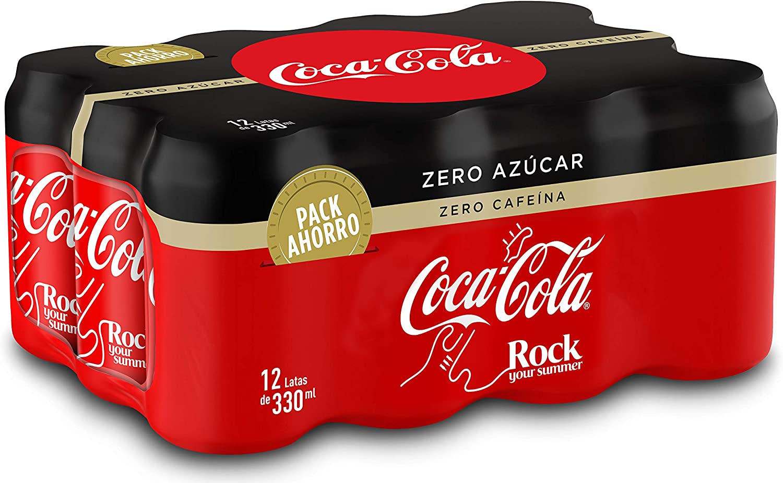 Coca-Cola Zero Azúcar Zero Cafeína Lata - 330 ml (Pack de 12): Amazon.es: Alimentación y bebidas