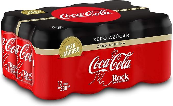 Coca-Cola Zero Azúcar Zero Cafeína Lata - 330 ml (Pack de 12 ...
