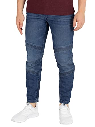 a8a1dc96b6f G-Star Men's Motac Deconstructed 3D Slim Jeans, Blue: Amazon.co.uk ...