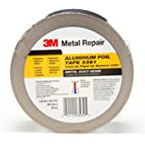 "3M Aluminum Foil Tape 3381, 1.88"" x 50 yd, 2.7 mil, Silver, HVAC, Sealing and Patching, Moisture Barrier, Cold Weather…"