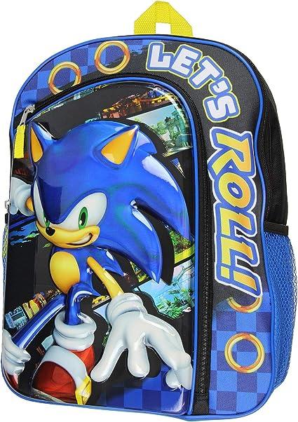 Amazon.com: Sonic the Hedgehog Molded Iridescent Mochila ...