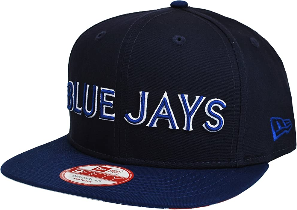 ec997d3d9d7 Amazon.com  New Era Men s 9Fifty MLB Cap Toronto Blue Jays Navy Blue ...