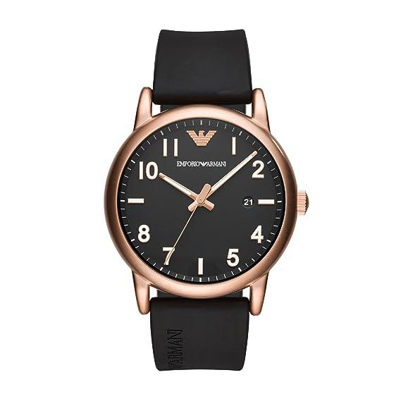 Emporio Armani Reloj Analogico para Hombre de Cuarzo con Correa en Silicona AR11097: Amazon.es: Relojes