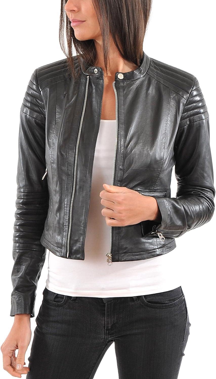 Genuine Soft Lambskin Leather Jacket for Womens Designer Wear LFWN167