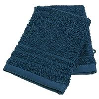 Gants de toilette en coton - Lot de 2 - Bleu nuit