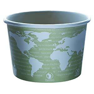 Eco-Products EPBSC16WA World Art Renewable & Compostable Food Container - 16 oz., (Case of 500)