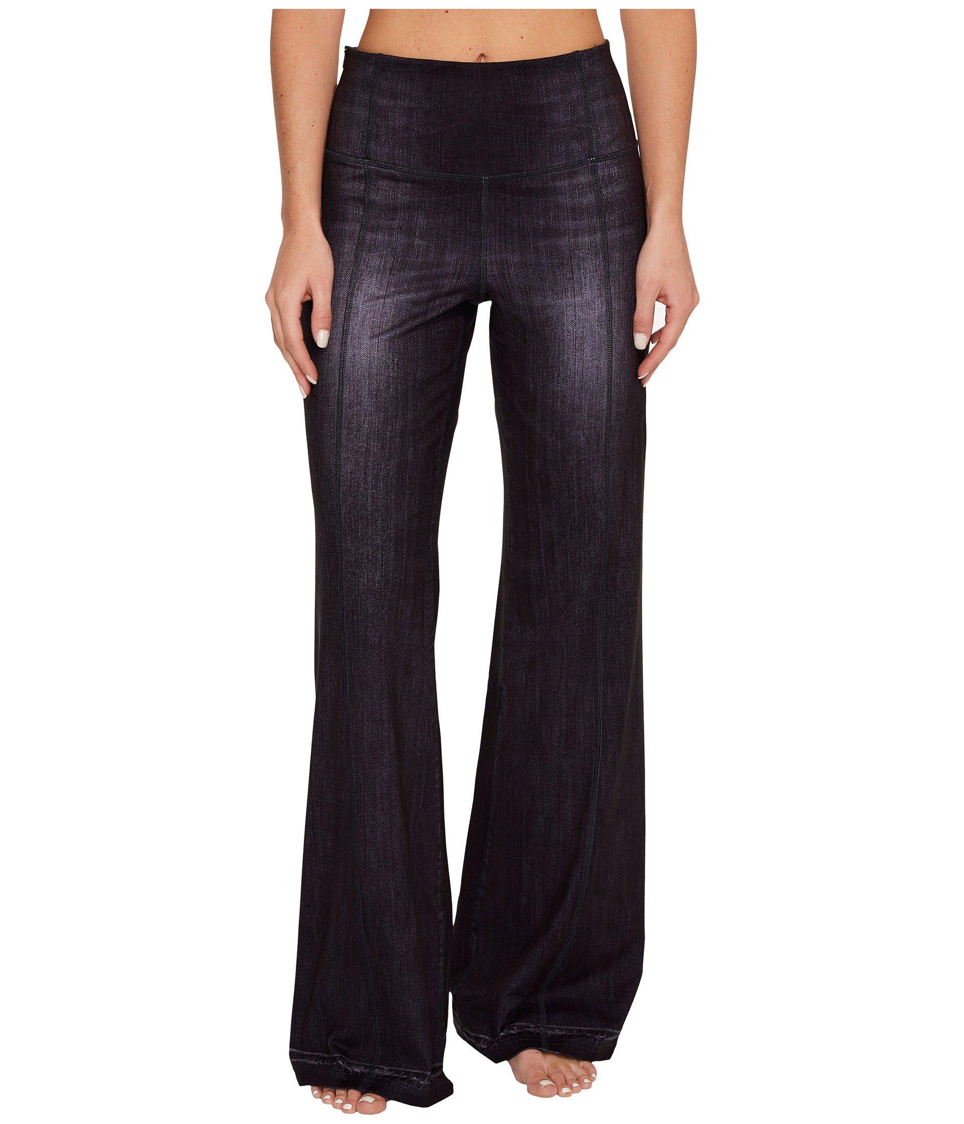 Lucy Women's Indigo Flare Pants Black Indigo Pants by Lucy