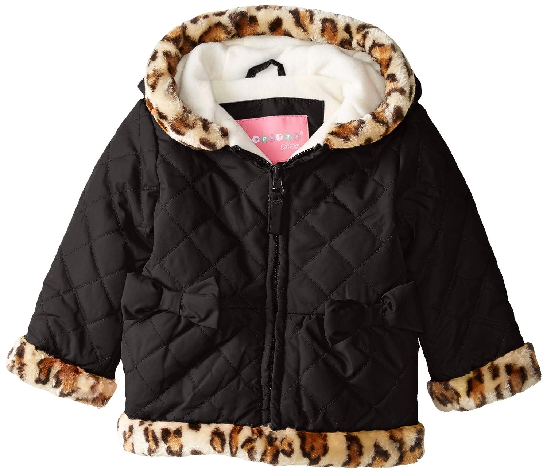 Amazon Com Wippette Baby Girls Leopard Microfiber Jacket Black
