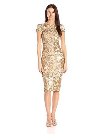 Gold Sheath Dress