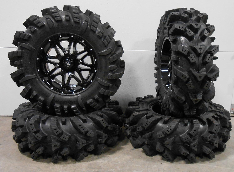 MSA Black Kore 14 ATV Wheels 30 Regulator Tires Bundle 9 Items 4x156 Bolt Pattern 3//8x24 Lug Kit