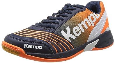 Attack One, Herren Handballschuhe, Blau (Marine/Orange/Blanc), 42 EU Kempa