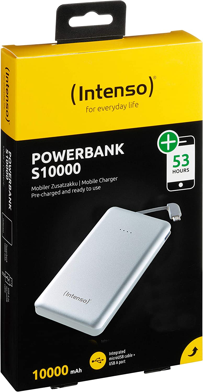 Intenso 7332531 Powerbank S10000 Slim Externes Elektronik