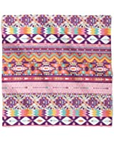 Candy Rainbow Aztec Tribal Geometric Satin Style Scarf