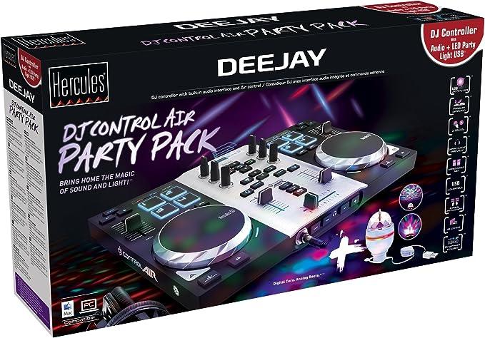 Hercules Dj Control Air Party Pack, Controladora de DJ con LED ...