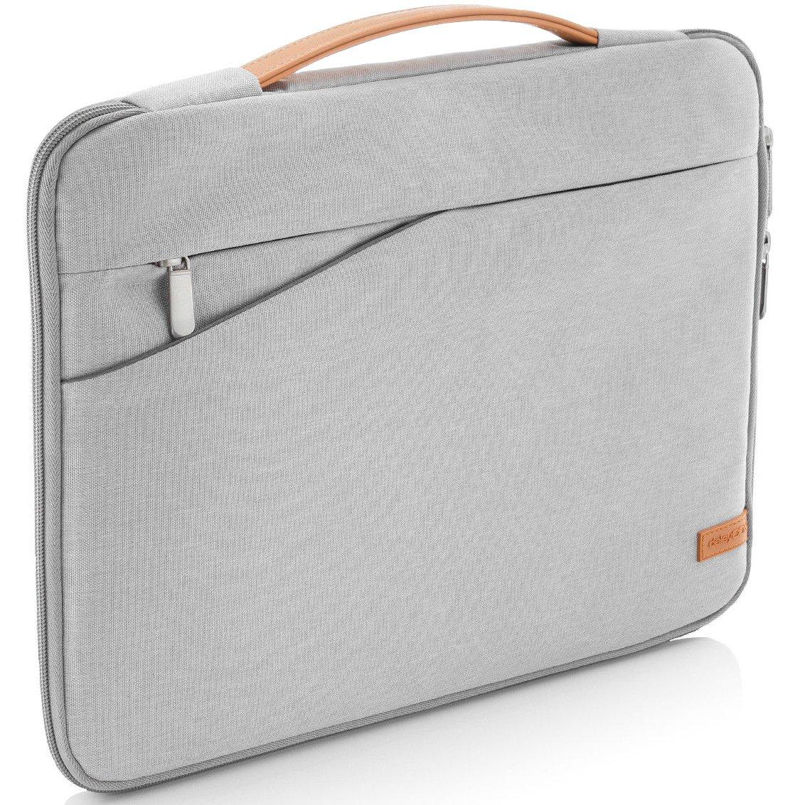 deleyCON pour notebooks / ordinateurs portables jusqu'à 17, 3 (43, 94cm) Sac / pochette fait de nylon résistant - 2 poches supplémentaires - noir 3 (43 MKB-154-2