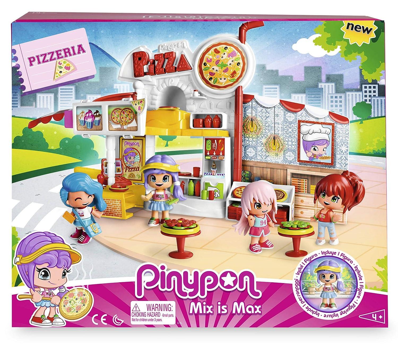 Famosa 700014755 con 1 figurita de Pinypon para ni/ños y ni/ñas de 4 a 8 a/ños Pizzer/ía escenario de juego Pinypon