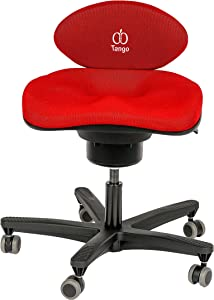 CoreChair Tango Ergonomic Active-Sitting Office Chair   Patented Design to Promote Movement to Build Core Strength and Posture (for Those 5'5