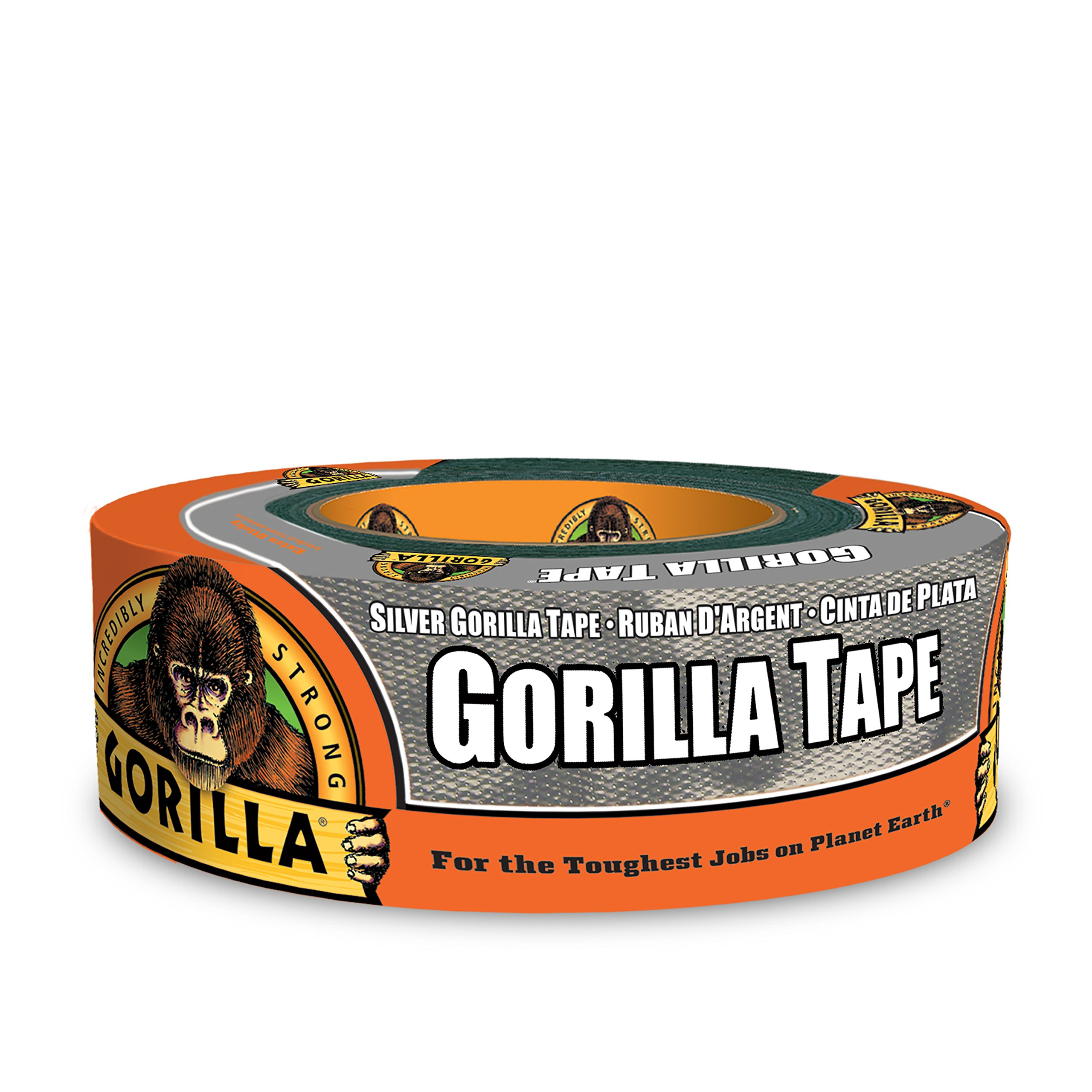 Gorilla Tape, Silver Duct Tape, 1.88'' x 35 yd, Silver, (Pack of 1)