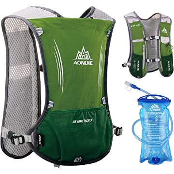 JEELAD 5L Running Hydration Vest Hydration Backpack for Marathon Jogging Biking Cycling