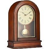 Bulova B7467 Hardwick Clock, Walnut Brown
