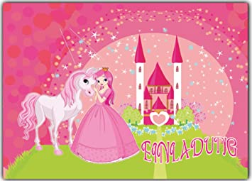 Gemeinsame Prinzessin Einladungskarten Kindergeburtstag 12 Stück im günstigen &NP_48