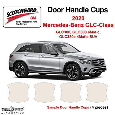 YelloPro Custom Fit Door Handle Cup 3M Scotchgard Anti Scratch Clear Bra Paint Protector Film Cover Self Healing PPF Guard Kit For 2020 Mercedes Benz GLC Class GLC300,GLC300 4Matic,GLC350e 4 Matic SUV: Automotive