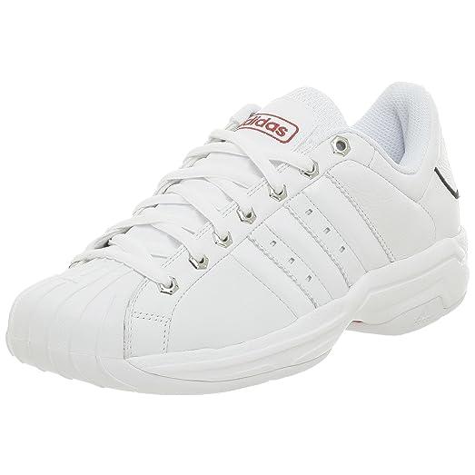 adidas Men\u0027s Superstar 2G NBA Bulls Basketball Shoe,White/White,7.5 M