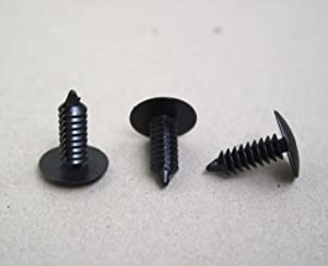 """GoodsZone 50 Pack Strapping Rivets Fasteners Medium Multi-Gauge 3/4"""" Length for Patio Lounge Chair Strap Repair Webbing for 3/16"""" or 7/32"""" Hole Black or White Color (Black)"""