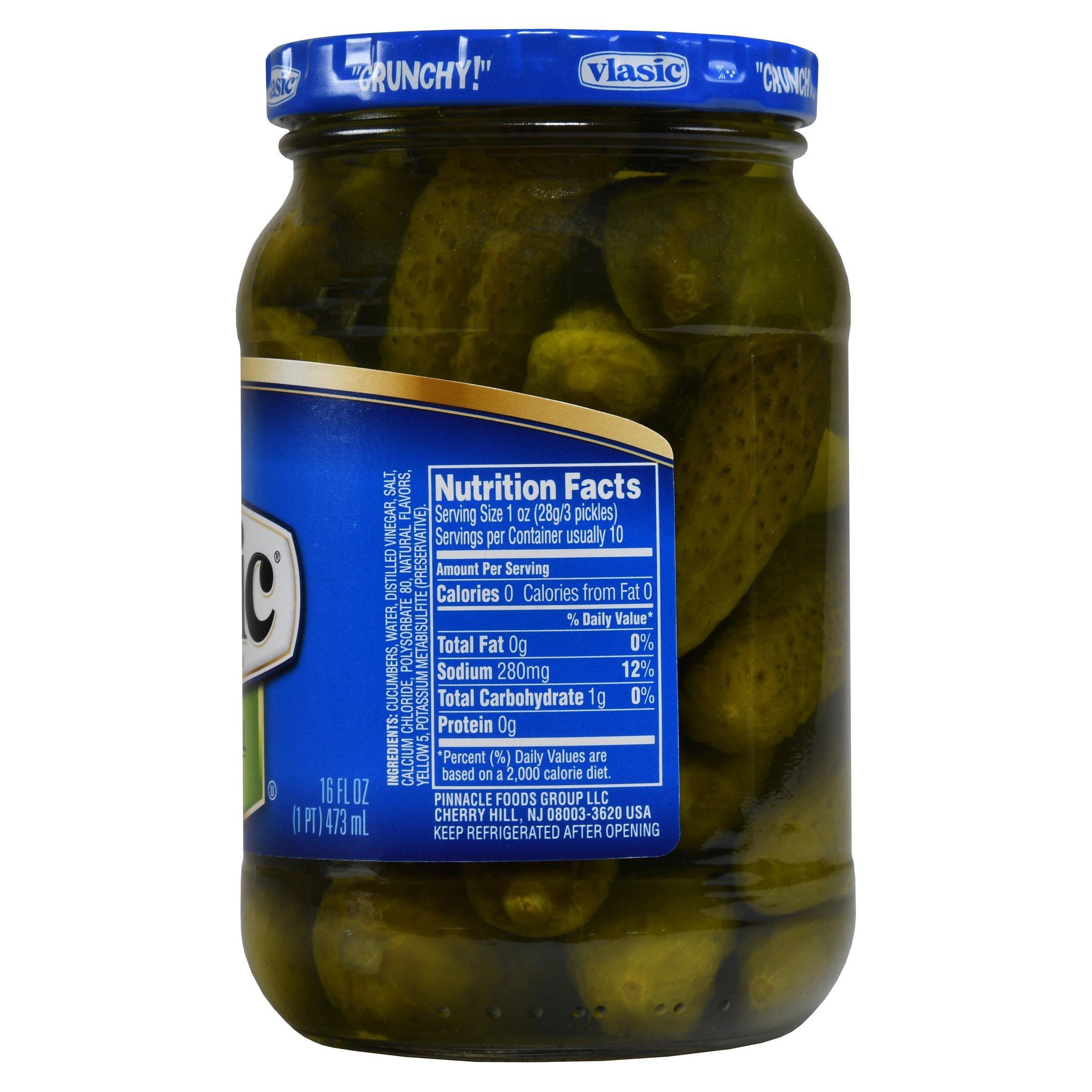 Vlasic Gherkins, Kosher Dill, 16 Ounce (Pack of 12)
