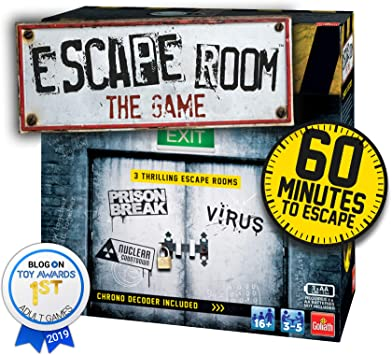 Goliath Games- Escape Room The 3 Pack Family Juego para 16+ ...