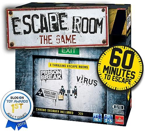 Goliath Games IG40643 Escape Room El Juego Familiar de 3 Unidades para 16+, Multi: Amazon.es: Juguetes y juegos