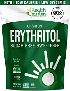 Health Garden Erythritol Sugar Free Sweetener - All Natural - Non GMO - Kosher- Keto Friendly (5 lbs)