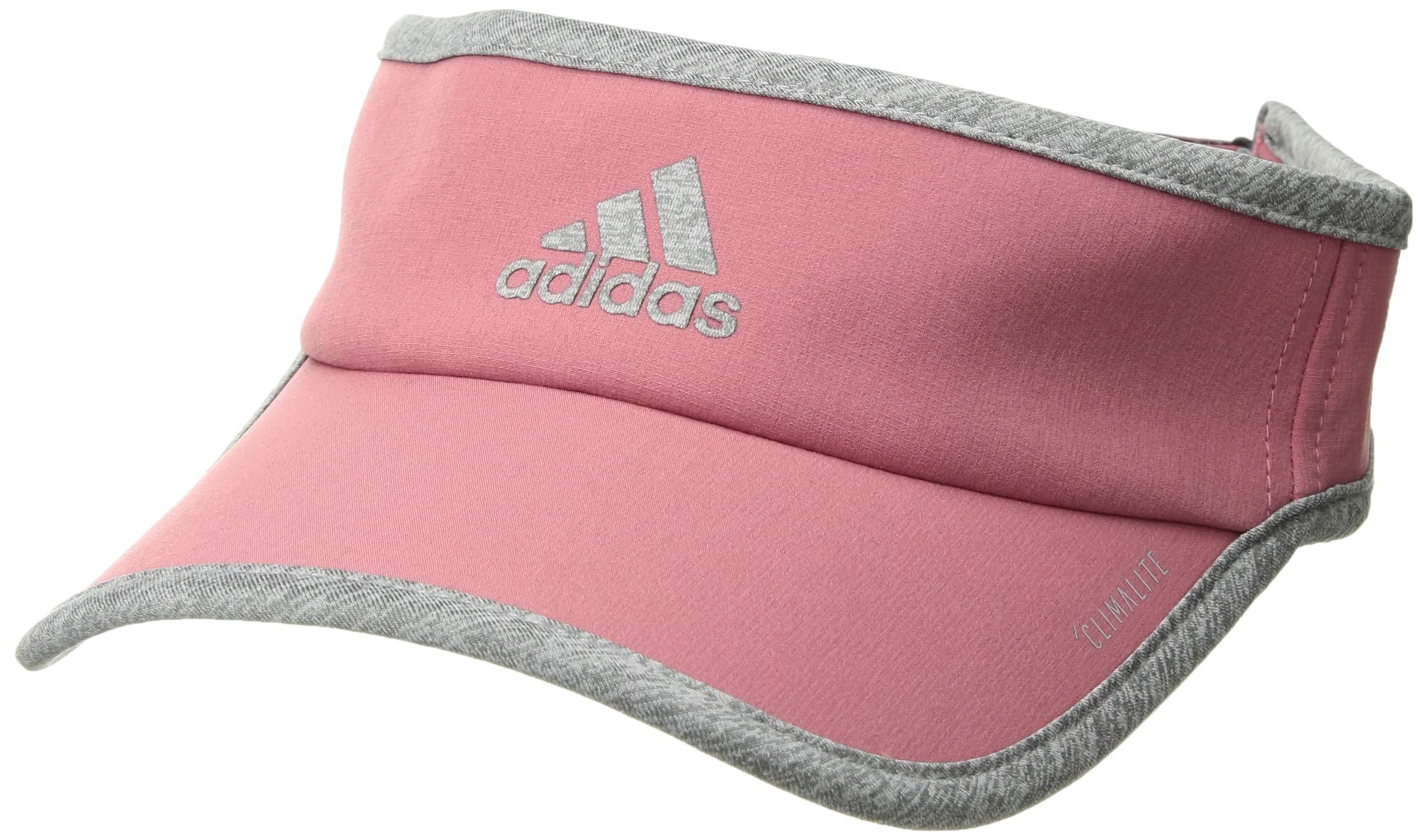 adidas Women's Superlite Visor, trace maroon/light heather grey, One Size