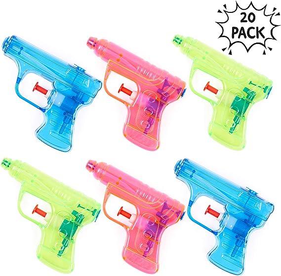 THE TWIDDLERS 20 Pistola de Agua | 4 Colores Variados | Estupendas ...