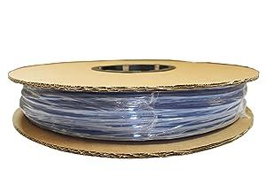 """ATP Surethane Polyurethane Plastic Tubing, Clear Blue, 1/4"""" ID x 3/8"""" OD, 100 feet Length"""