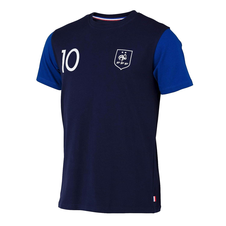 Equipo de Fútbol de Francia, camiseta de la FFF - Jugador Kylian Mbappe - Colección oficial en talla para niño., Niños, azul, 12 años: Amazon.es: Deportes y ...