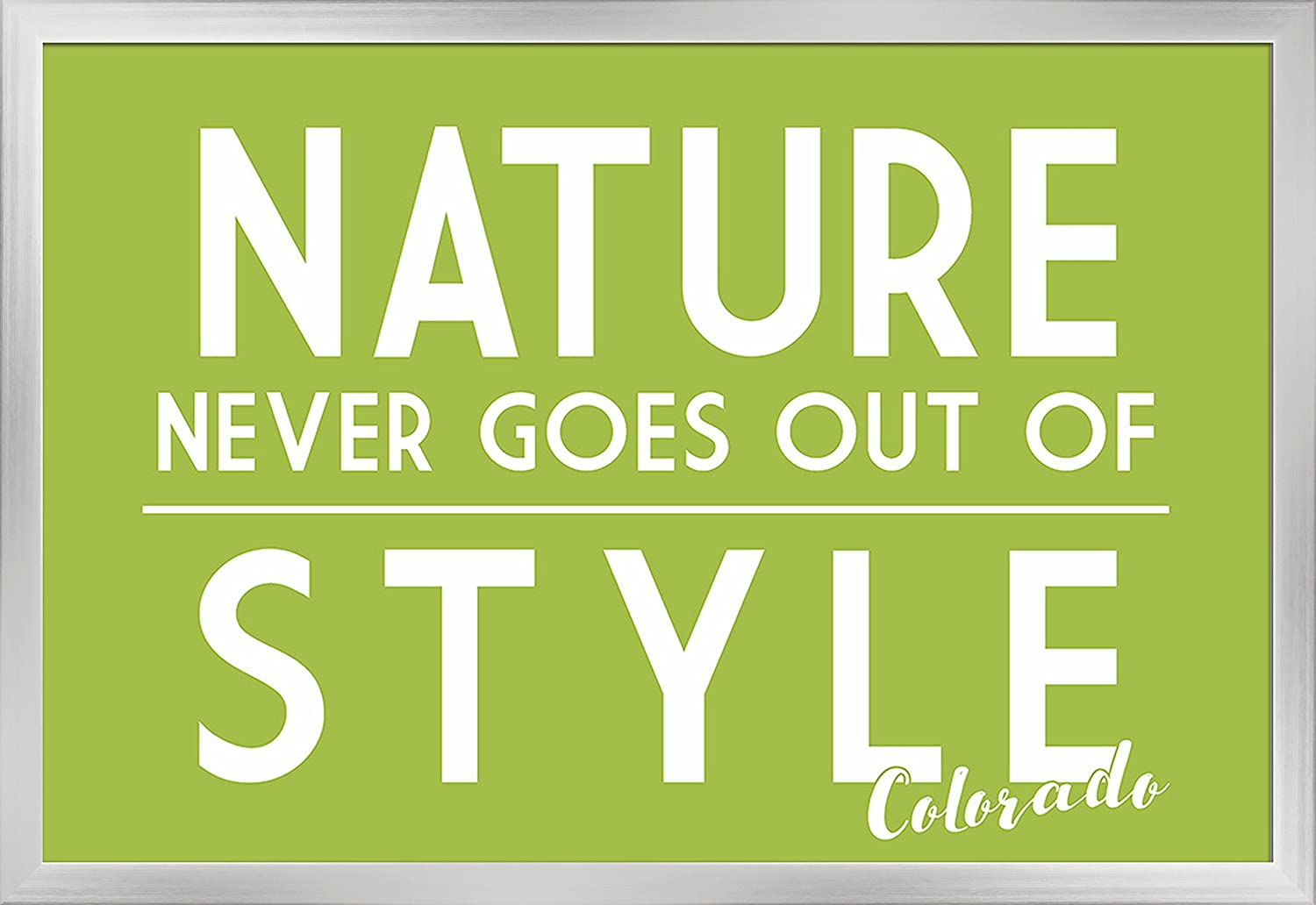 36x24 Giclee Art Print, Gallery Framed, White Wood Colorado Simply Said Nature Never Goes Out of Style