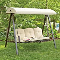 Hampton Bay Cunningham 3-Person Metal Outdoor Swing
