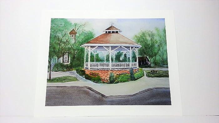 Amazon Com Cape May Gazebo Giclee Print From Original Watercolor